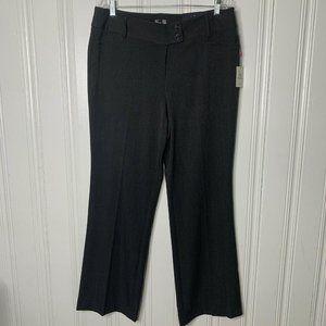 RAFAELLA Gray Curvy Bootleg Trouser Pants Size 14